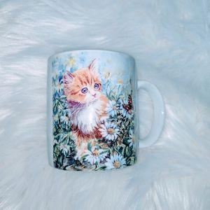 3/$20 Playful Kitten with Butterfly Coffee Mug